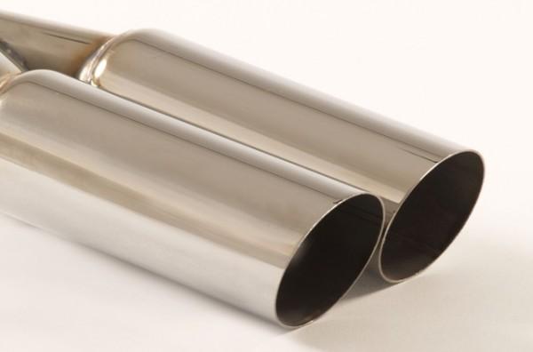 Endrohr 2x70mm rund scharfkantig abgeschrägt