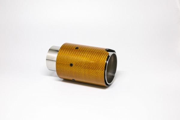 Endrohr 90mm rund Carbon orange glänzend (Aufpreis)