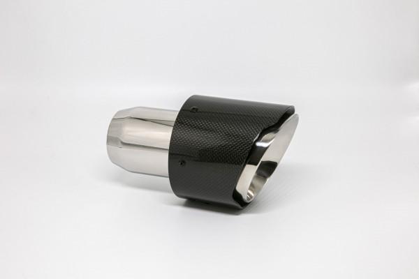 Endrohr 114mm rund Carbon breite Kante abgeschrägt (Aufpreis)