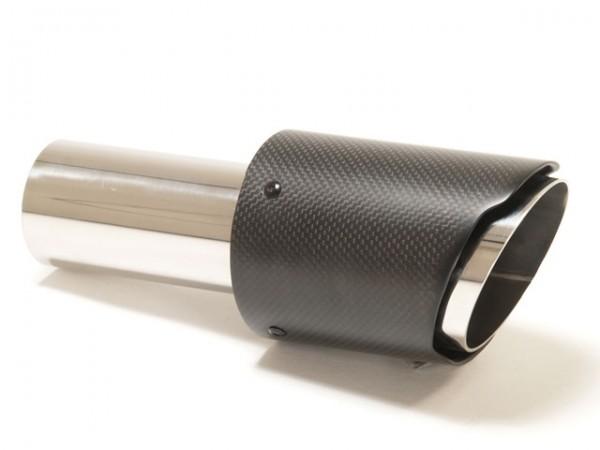 Endrohr 90mm rund Carbon scharf Aufpreis