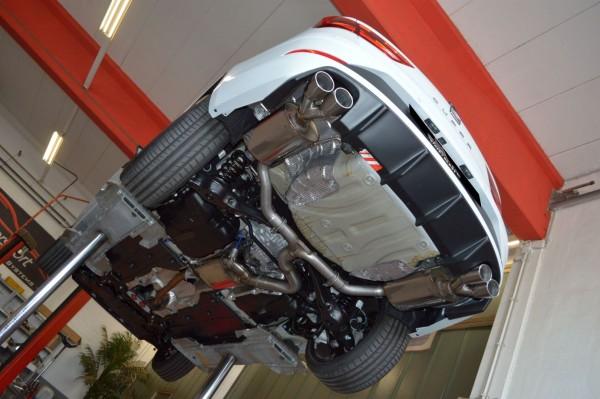 76mm Duplex-Anlage mit Klappensteuerung, Seat Leon 5F ST Cupra 4drive