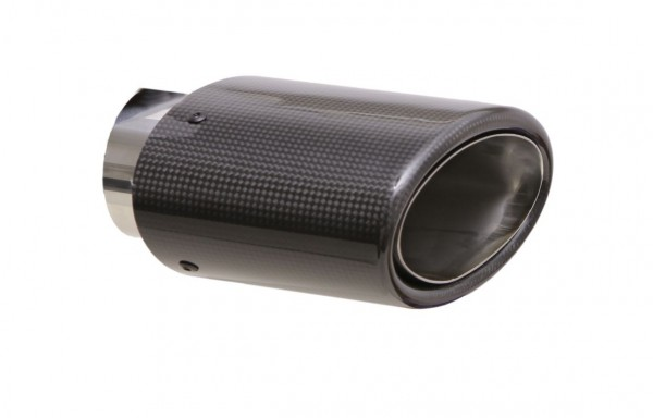 Endrohr 82x152mm oval Carbon abgeschrägt (Aufpreis)