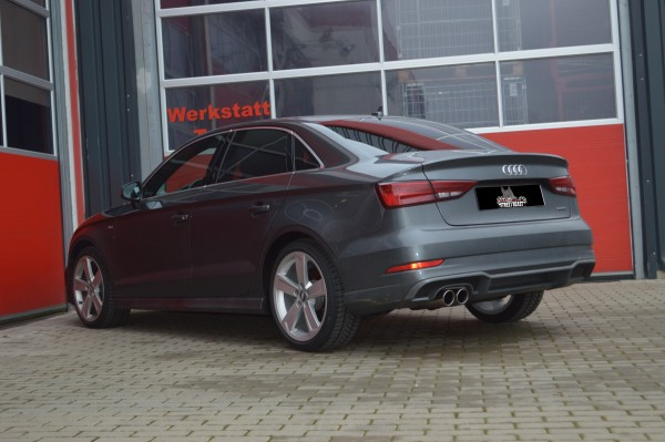 76mm Single-Anlage mit Soundgenerator, Audi A3 8V Limousine Frontantrieb