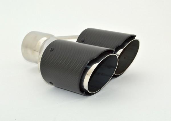 Endrohr Carbon 2x90mm rund scharf abgeschrägt