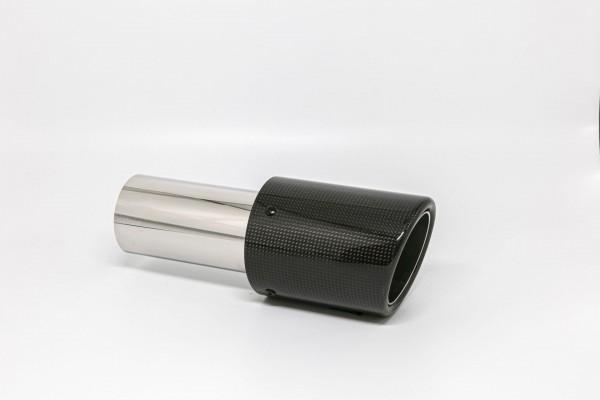 Endrohr 90mm rund Carbon abgeschrägt (Aufpreis)