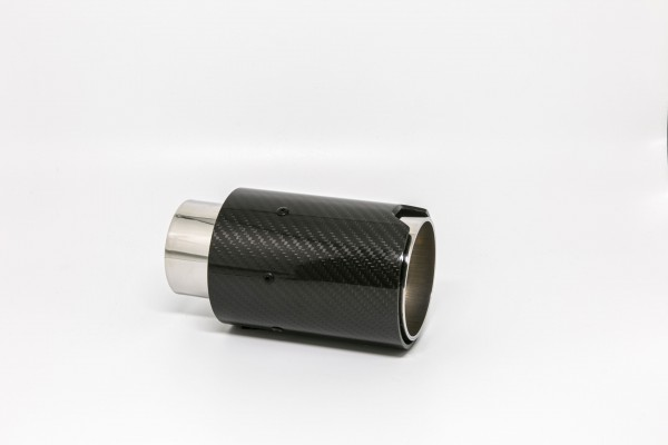Endrohr 90mm rund Carbon (Aufpreis)