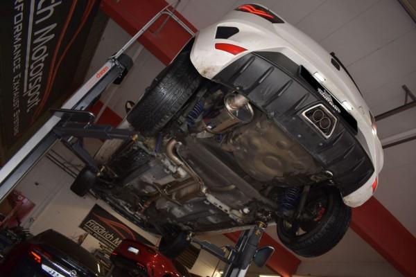 70mm Anlage mittig mit Klappensteuerung, Seat Ibiza 6J SC Cupra 3-Türer