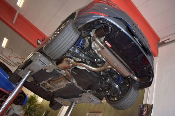 76mm Duplex-Anlage mit Klappensteuerung, Seat Leon 5F Cupra inkl. SC