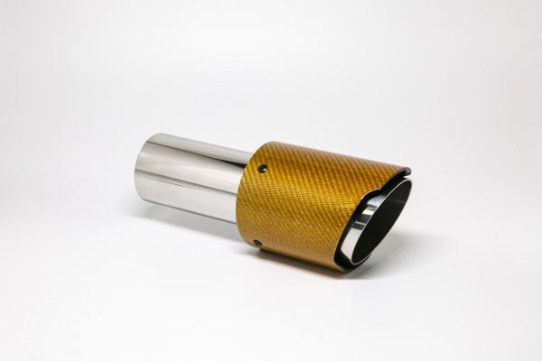 Endrohr 90mm rund Carbon scharf orange glänzend (Aufpreis)