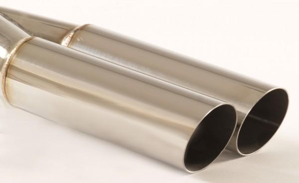 Endrohr 2x60mm rund scharfkantig abgeschrägt