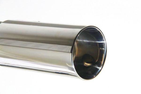 Endrohr 90mm rund mit breiter Kante
